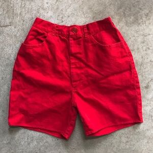 Cutest Vintage Red Canvas Short